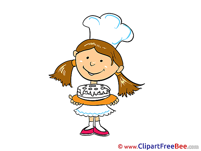 Cake Cook Girl free Cliparts for download