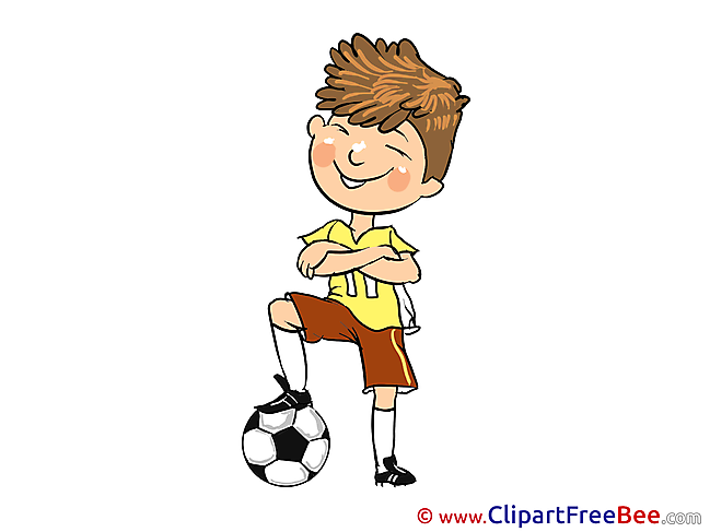 Footballer printable Illustrations for free