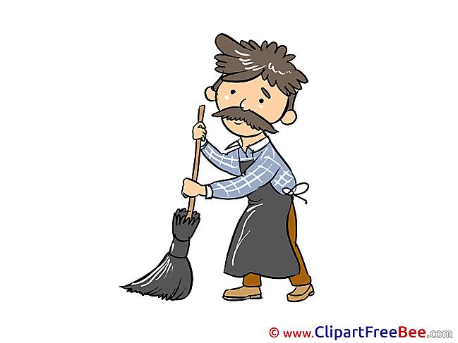 Janitor download printable Illustrations