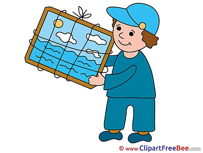Man Loader Clipart free Illustrations