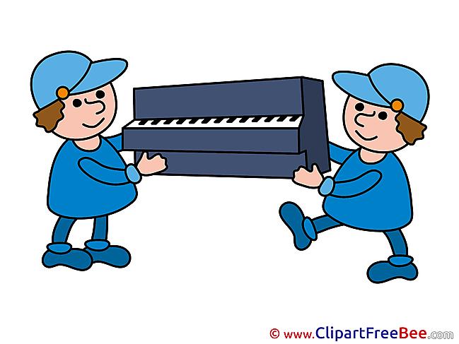 Piano Loaders download printable Illustrations
