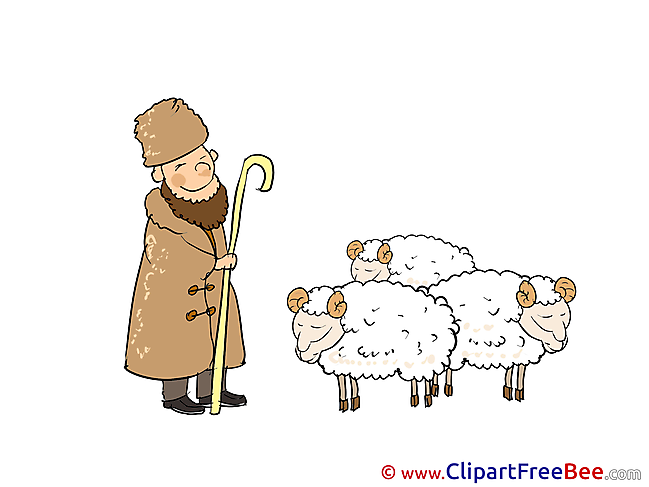 Shepherd Sheeps free Cliparts for download