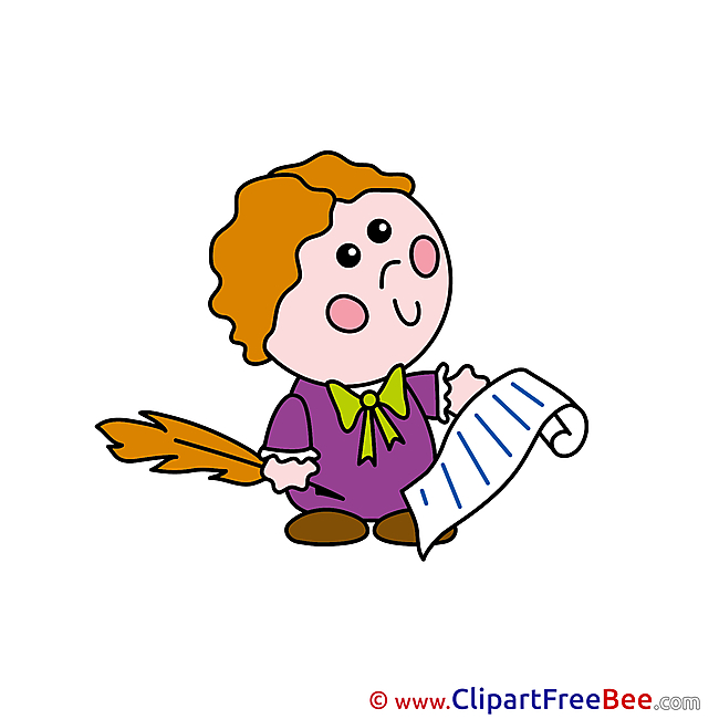 Writer Text Clipart free Illustrations
