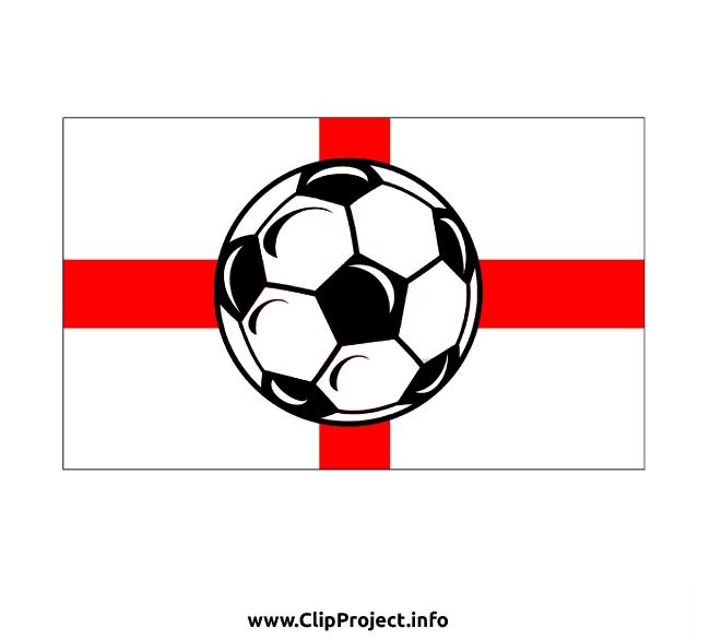 England flag and Soccer Ball Clip Art