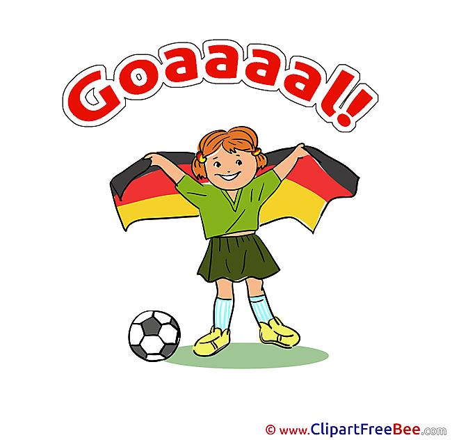 Flag Germany Pics Football free Cliparts