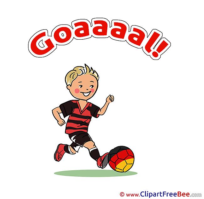 Forward printable Illustrations Football