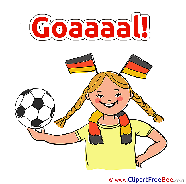 Girl Germany Clip Art download Football