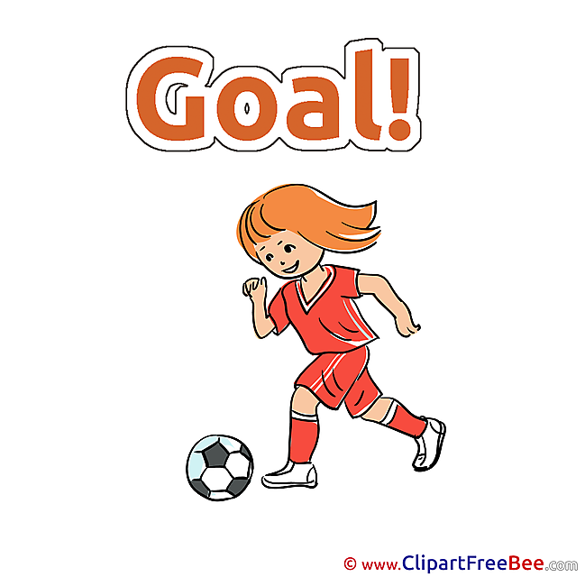 Girl with Ball free Cliparts Football