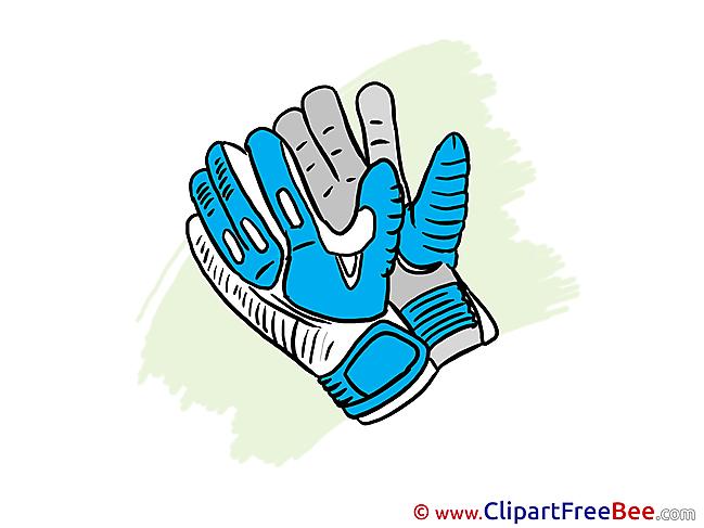 Gloves Clipart Football Illustrations