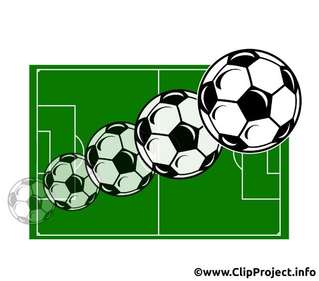 Soccer Balls flying Image