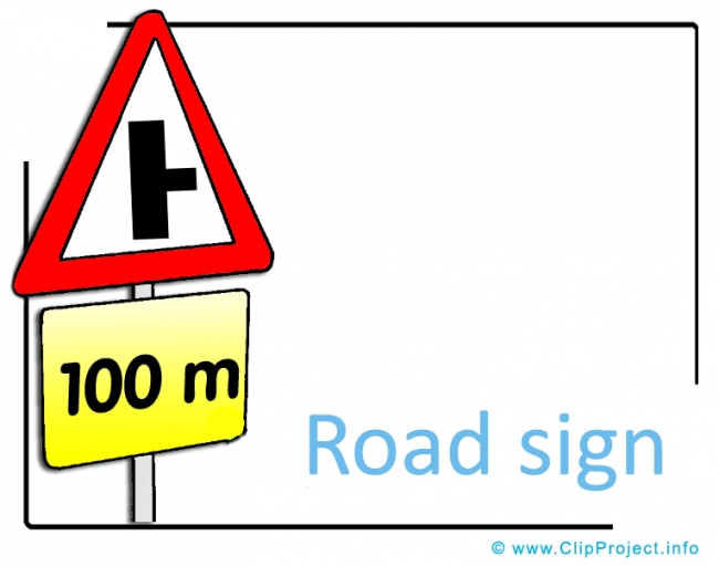 Road Sign Clipart Picture free - Transportation Pictures free