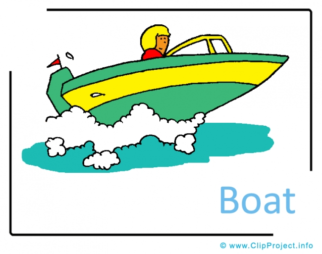 Speedboat Clipart Picture free - Transportation Pictures free