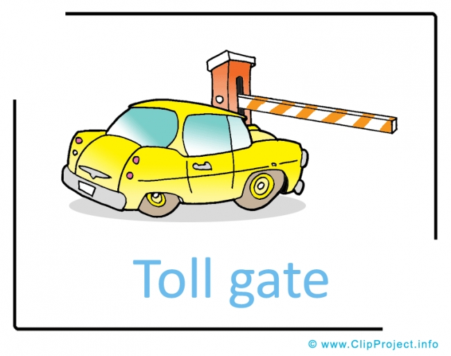 Toll Gate Clipart Picture free - Transportation Pictures free