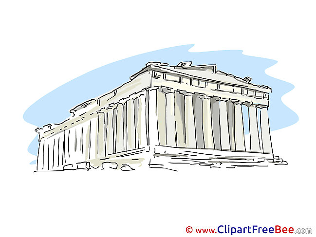 Greece Temple Pics download Illustration