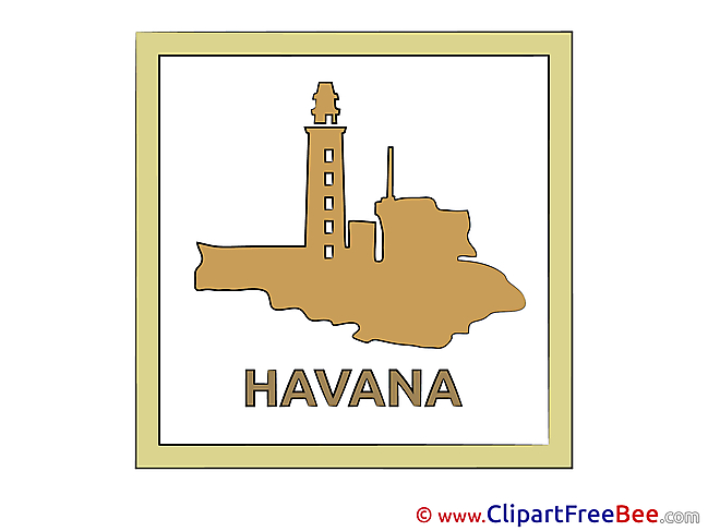 Havana Cuba free printable Cliparts and Images