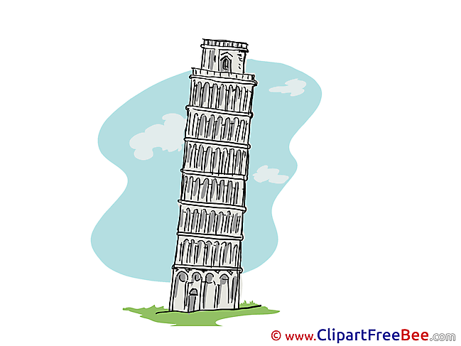 Leaning Tower Pisa download printable Illustrations