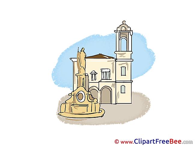 Madrid Cathedral Pics download Illustration