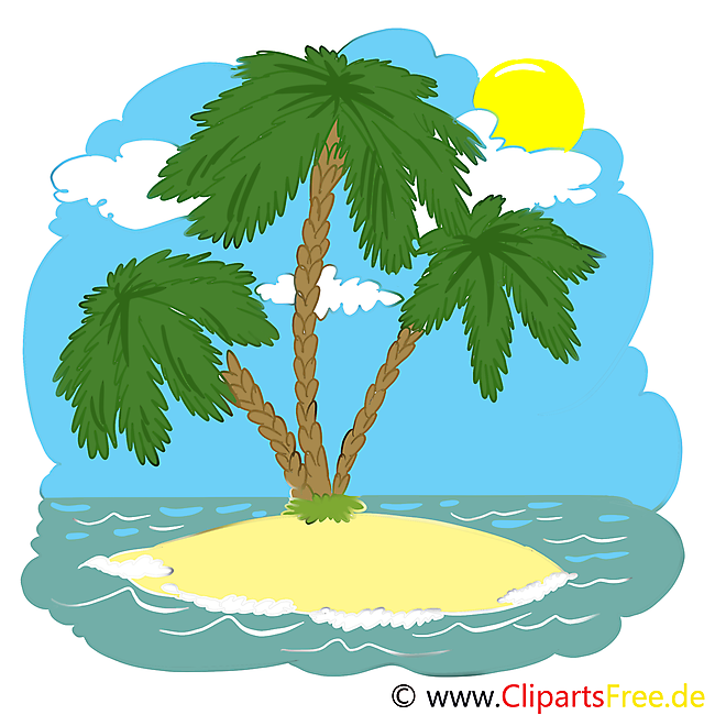 Ocean Island Cliparts printable for free