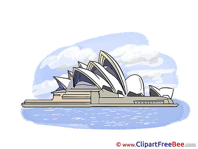 Opera Sydney Clipart free Illustrations