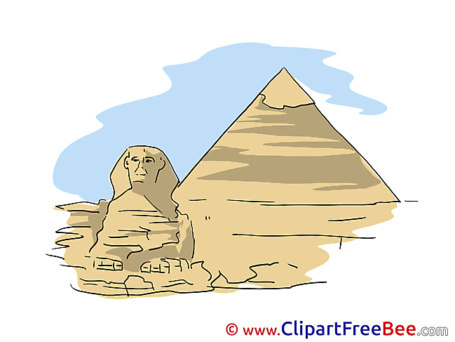 Pyramid Sphinx Clipart free Illustrations