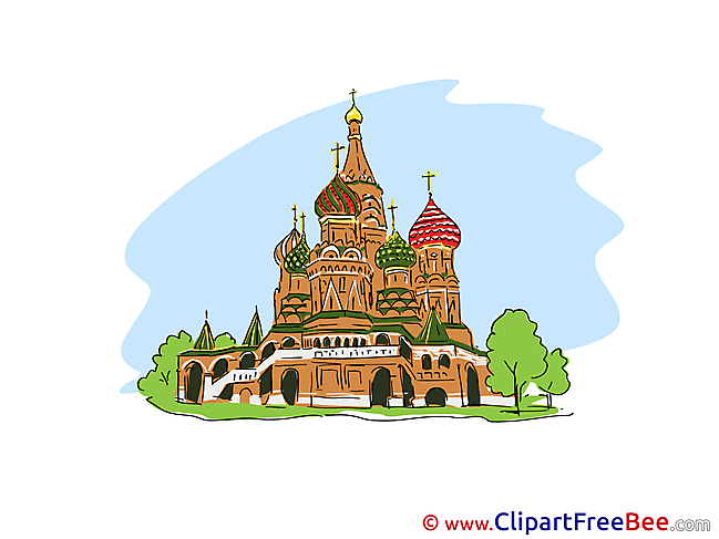 St. Basil's Cathedral Moscow Clipart free Illustrations