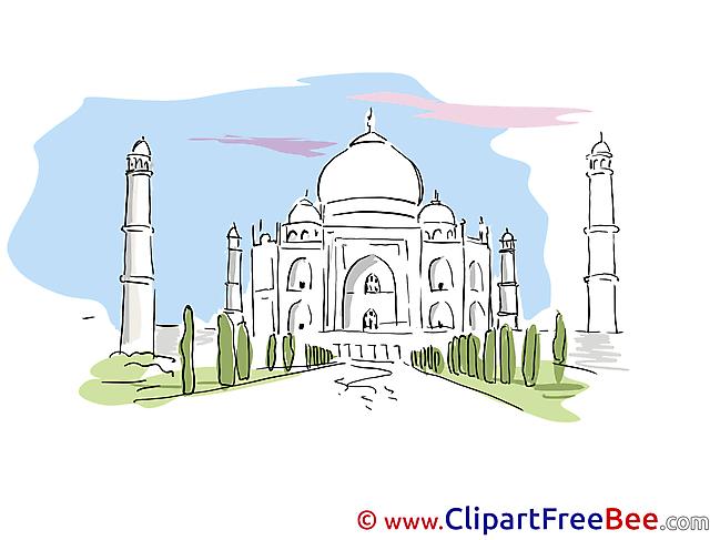 Taj Mahal free Illustration download