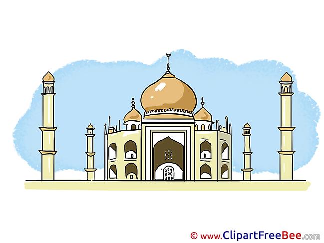 Taj Mahal India free Cliparts for download