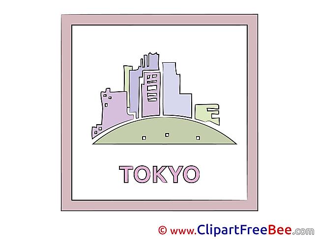 Tokyo Japan Clipart free Illustrations