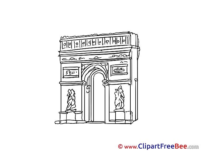 Triumphal Arch Paris Cliparts printable for free
