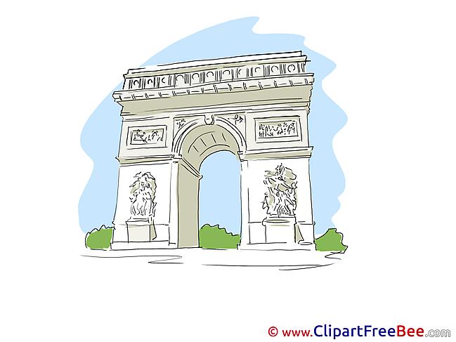 Triumphal Arch Paris free Illustration download