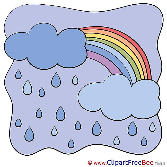 Bad Weather Rain printable Illustrations for free