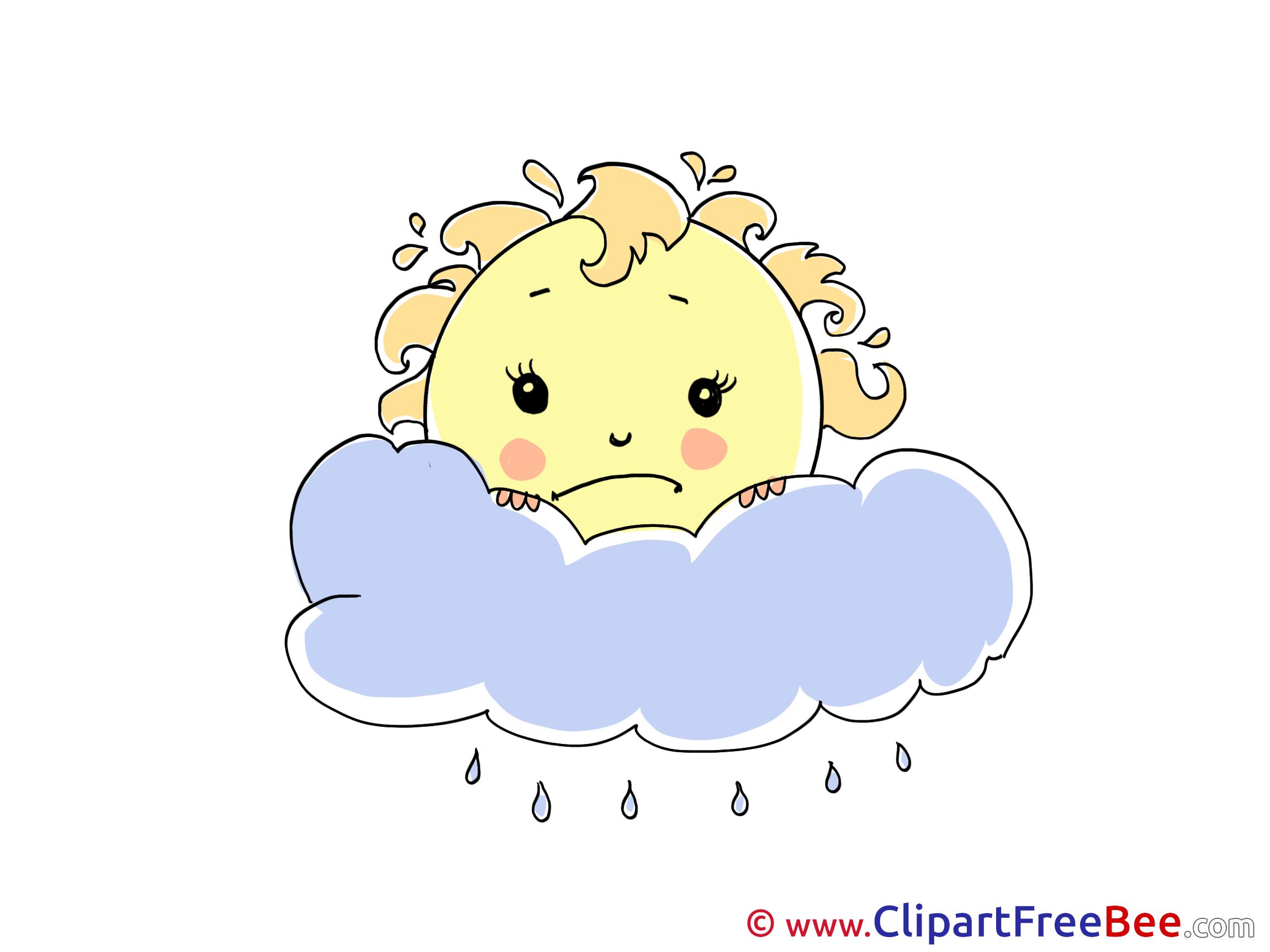 Frowning Sun Rain Pics download Illustration