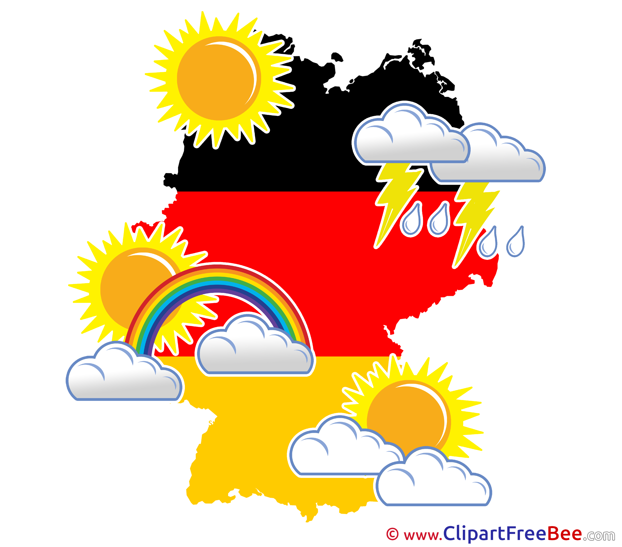 Germany Weather Pics printable Cliparts