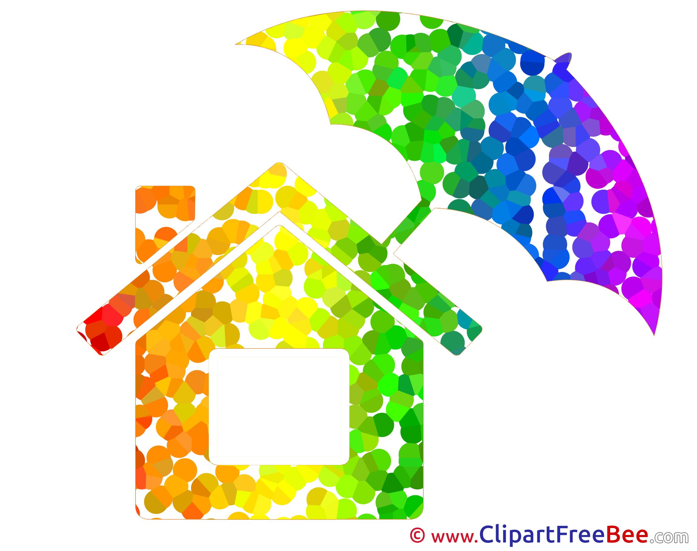 House Umbrella Pics printable Cliparts