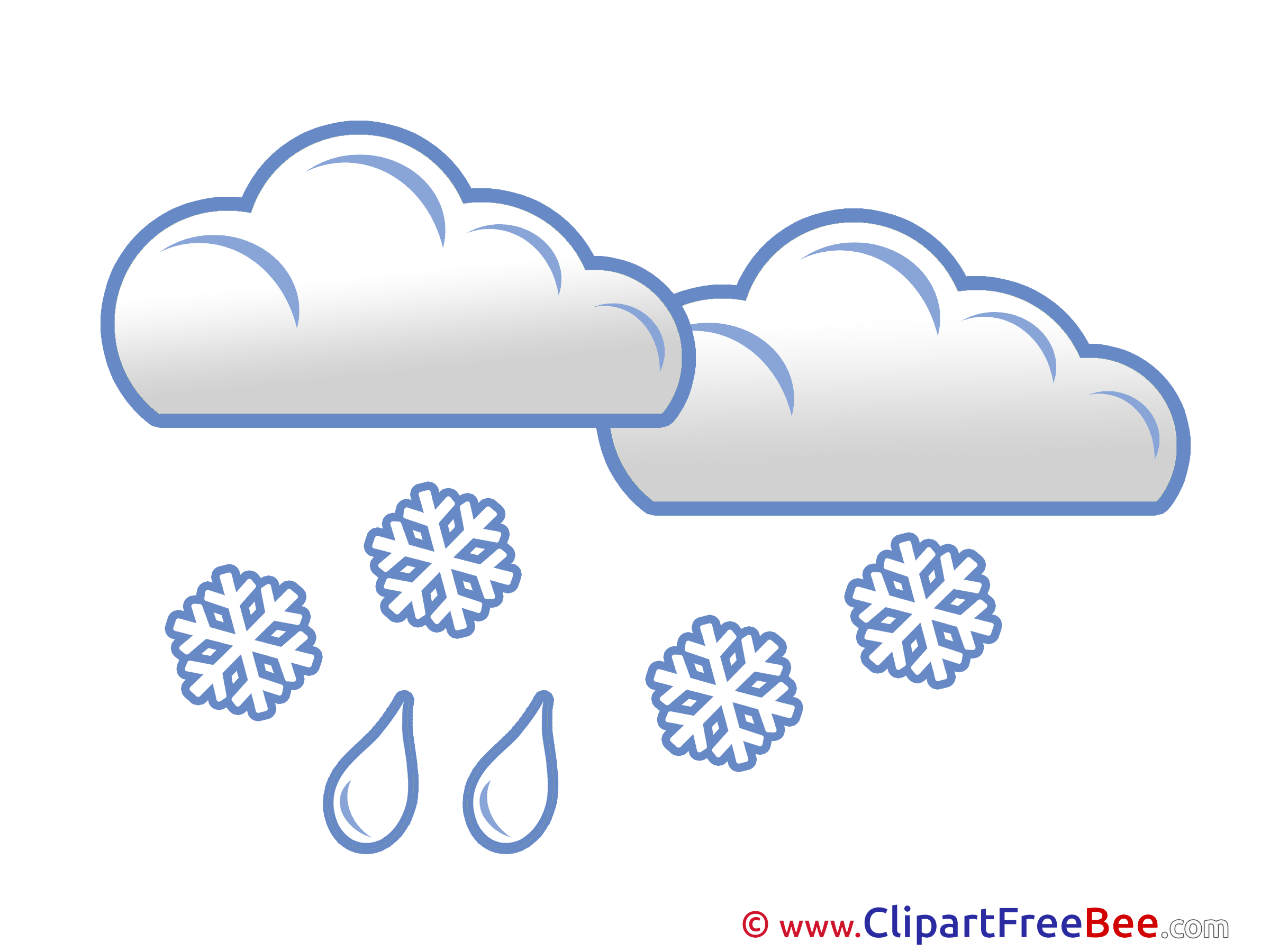 Snow Rain Clouds download Clip Art for free