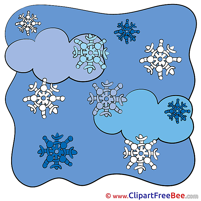 Snowflakes Clouds Winter Images download free Cliparts