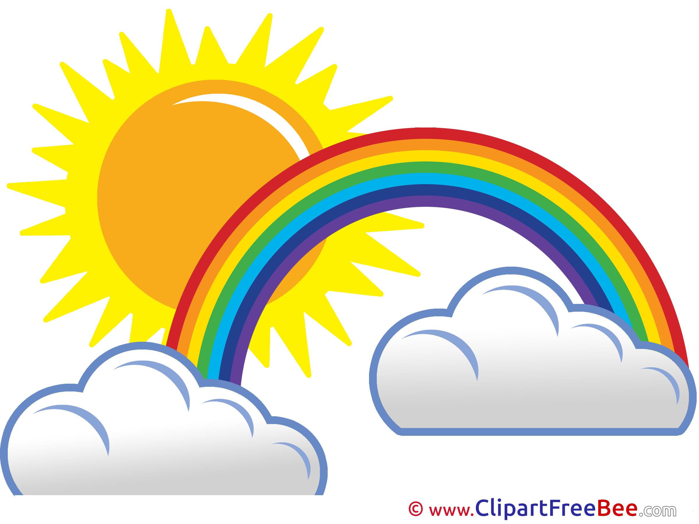 Sunny Day Rainbow Clouds Sun Pics free Illustration