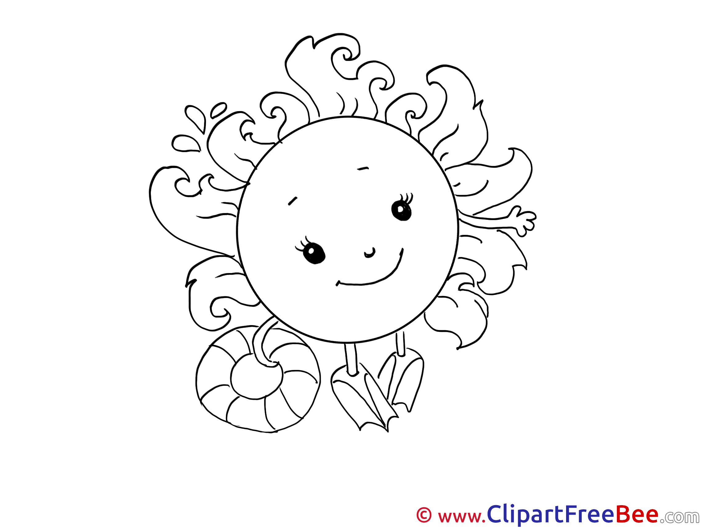 Swimming Sun Weather free Cliparts for download