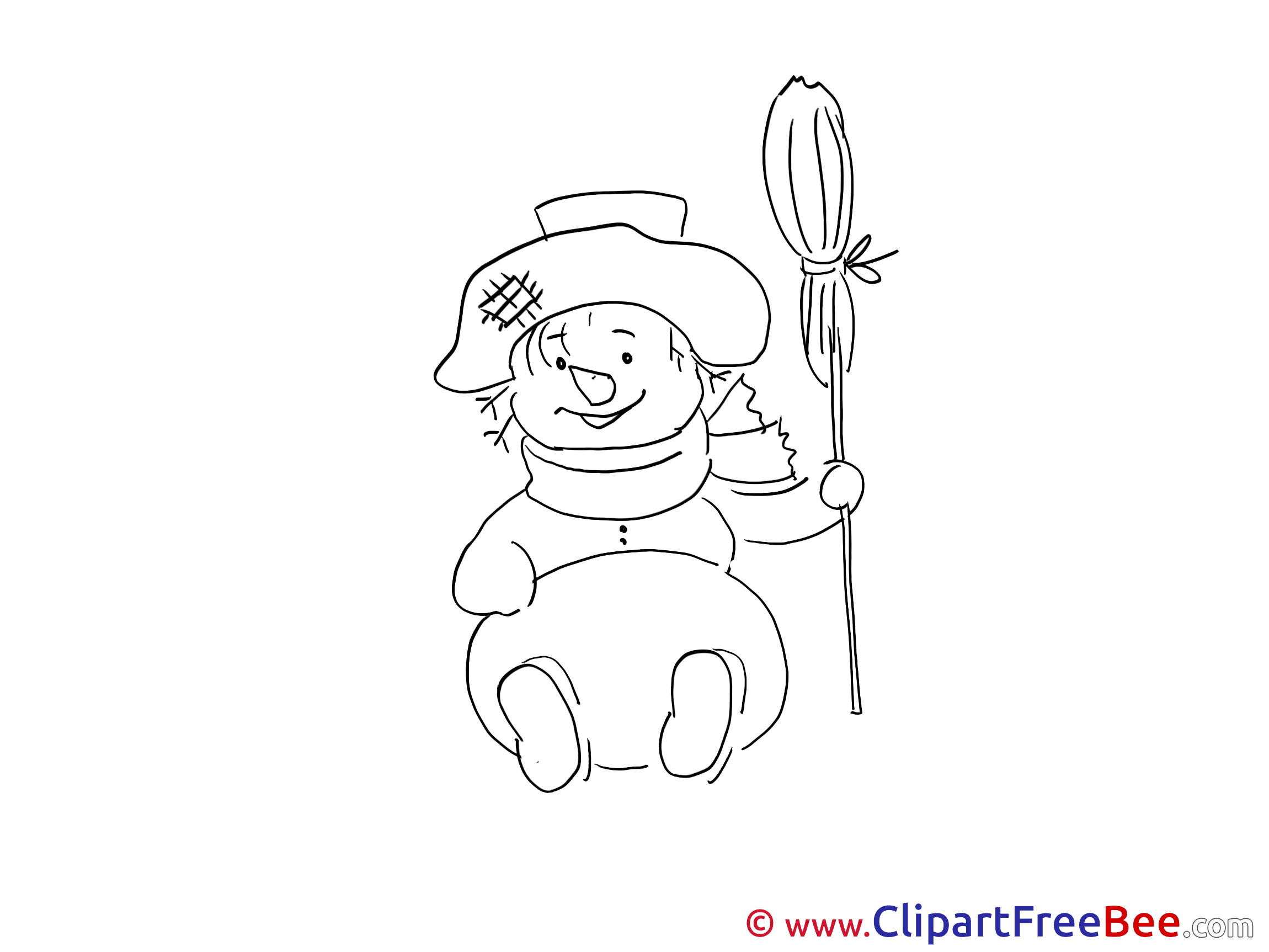 Broom Snowman Pics Winter free Cliparts