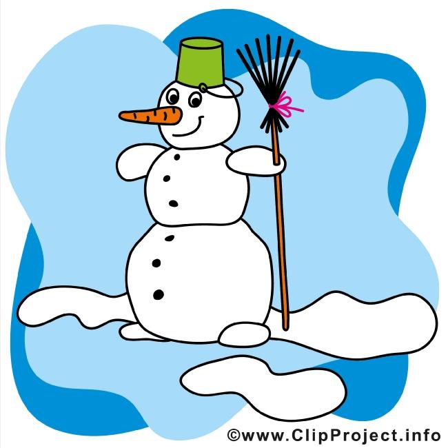 Cartoon Snowman - Winter Clip Art gratis