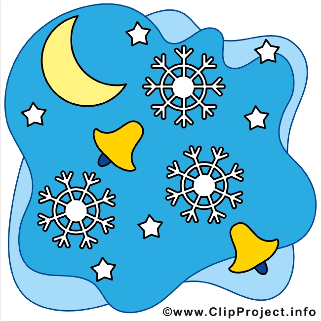 Christma Bells and Snowflakes Winter Cliparts gratis
