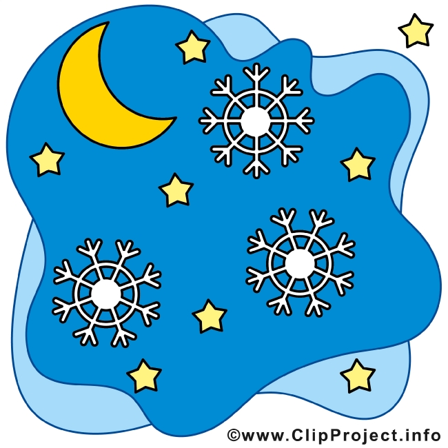 Christmas Night - Winter Cliparts free