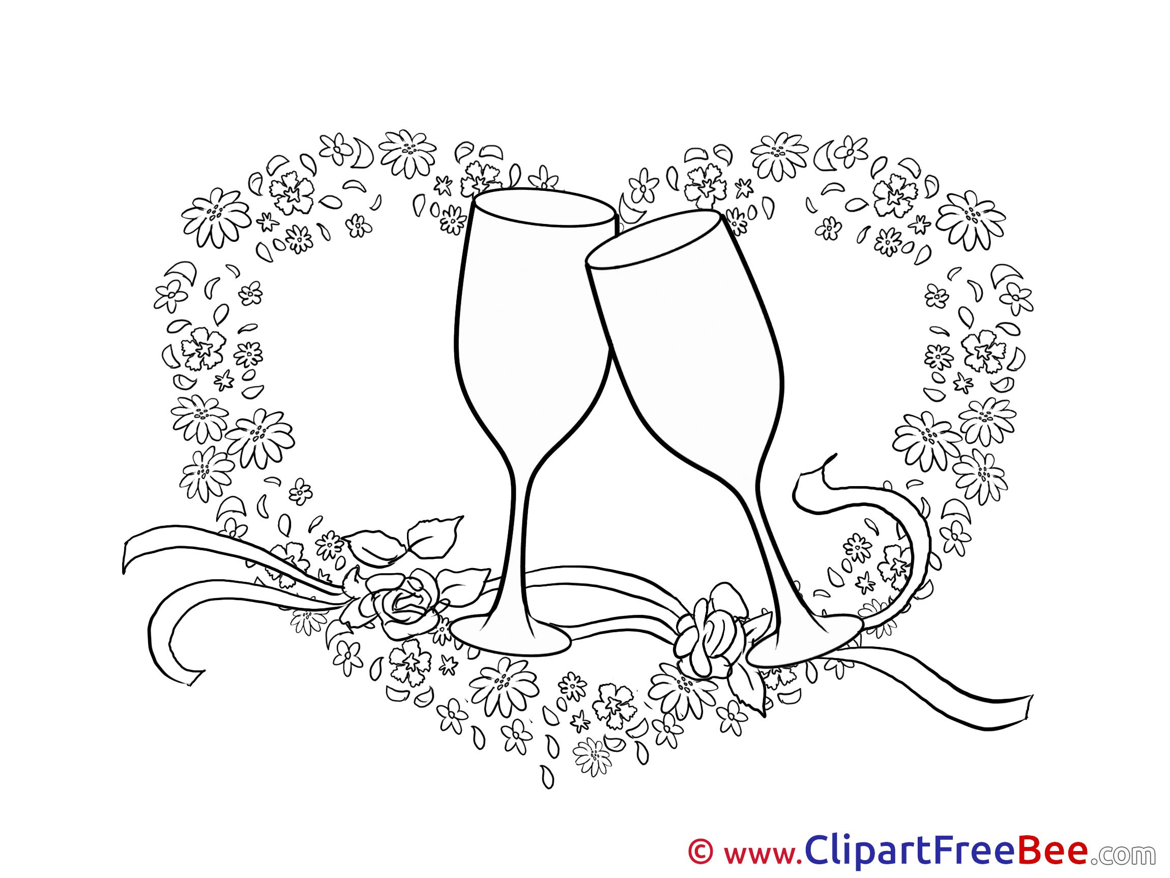 Glasses Heart Wedding free Illustration