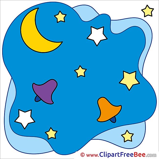 Night Moon Pics Winter free Cliparts