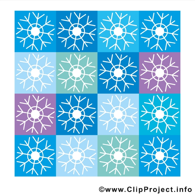Snowflakes Clip Art gratis