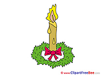 Candle Cliparts Advent for free