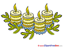 Pics Candles Advent Illustration