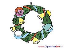 Wreath Pics Advent Illustration