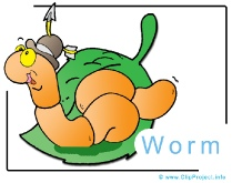 Cartoon Worm Clip Art Image free