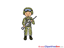 Clipart Army Illustrations